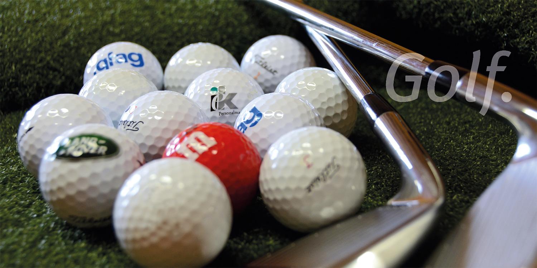 Golfball Aktion Logo Golfbälle